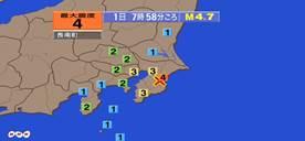千葉県で震度4 æ´æ³¢ã®å¿ƒé…ãªã—