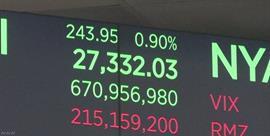 NY株価 利下げ期待から3æ—連続で最高値を更新