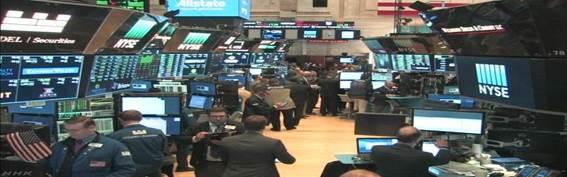 NY株式市場 ダウ平均 最高値更新し取り引き続く