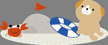 「海 イラスト 夏」の画像検索結果